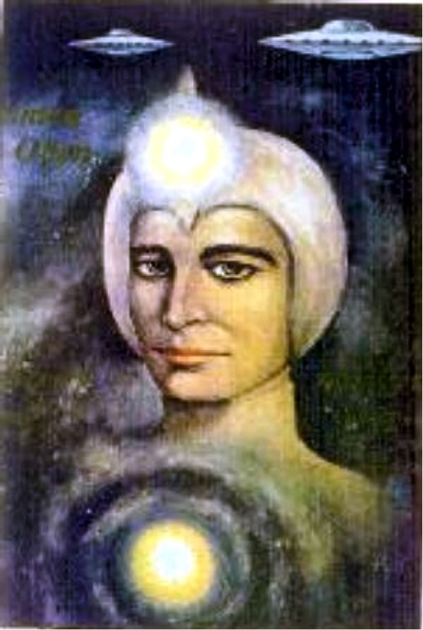 Ashtar Sheran as seen by artist Celaya Winkler (USA), 1979, all rights reserved.