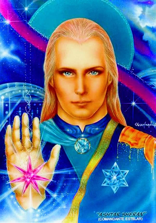 Ashtar Sheran as seen by artist Claudio Gianfardoni, 1992, all rights reserved (commissioned by Ms. Patricia Campos, Brazil).
