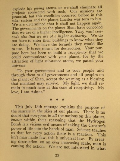 "George Van Tassel's ""I Rode a Flying Saucer - The Mystery of the Flying Saucers Revealed"" - Page 32"